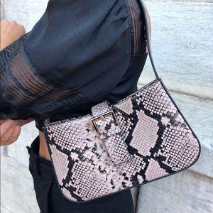 Gabriel Vegan Leather Snakeskin Shoulder Bag